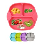 Children Feeding Dinner Plates Bowls Anti-Fall Tray Baby Food Storage Silicone Dining Plate Toddler Tableware