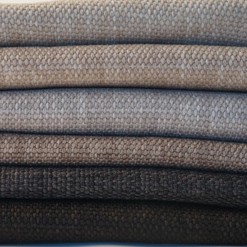 Linen look polyester sofa chair fabric for home and hotel