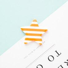 10 шт Смола полоса подвеска с пентаграммой для изготовления ювелирных изделий красочные звезды DIY брелок Подвески Аксессуары Оптовая продаж...(Китай)