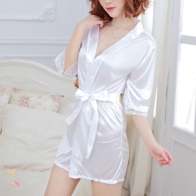 New Sexy Women Silk Satin Robe,Wedding Bride Bridesmaid Lingerie Set Sleepwear Nightgown