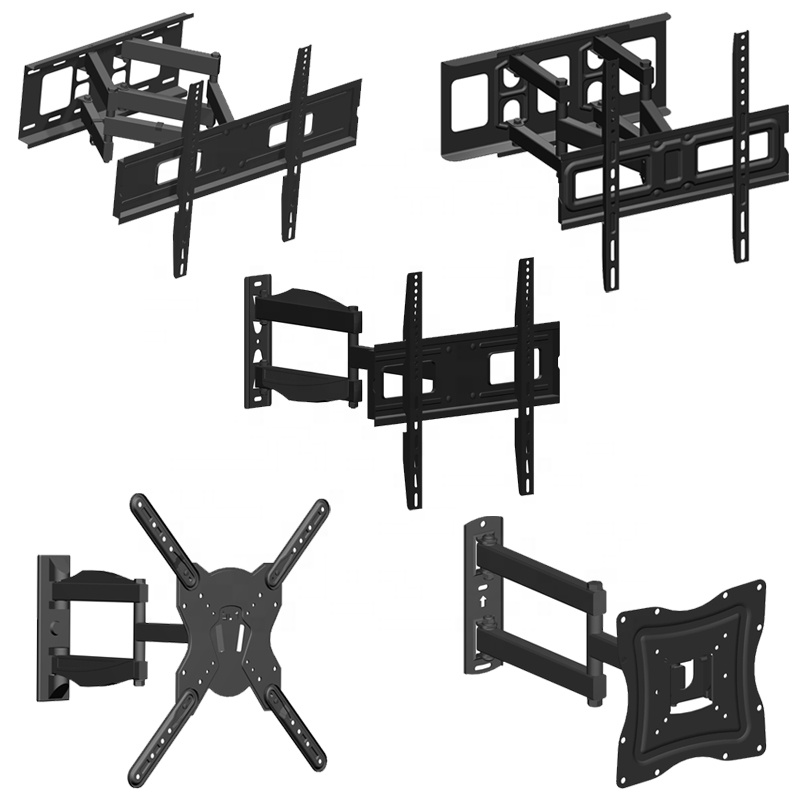 Most Popular Full Motion TV Wall Mount Bracket with Swivel Swing Heavy Duty Articulating Arms for LCD TV