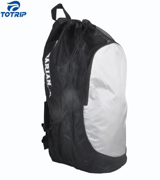Massive capacity nylon wrestling soccer mesh gear backpack bag
