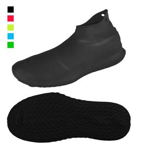Waterproof Reusable Non-slip Silicone Rubber Protective Boot Covers Rain Snow Overshoes Shoe Covers Case, Shoe Cover For Rain
