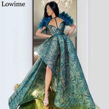 Новинка 2020, Дубай, платье знаменитостей, асимметричное турецкое платье для выпускного вечера, вечерние платья с арабскими перьями, длинное ...(Китай)
