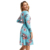 Fascinating Autumn Women Long Sleeve A Line Allover Floral Print Elastic Waist Midi Dress