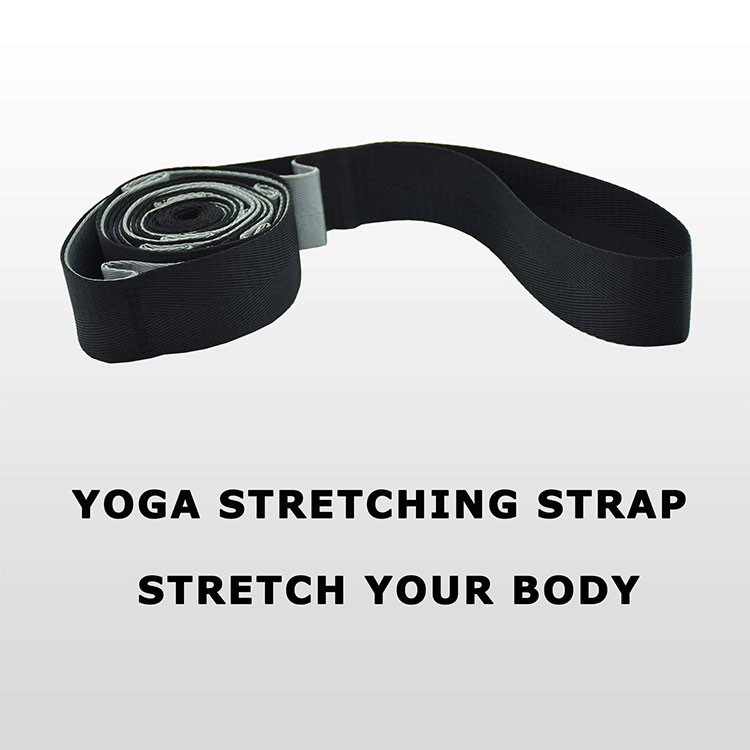 high quality custom logo 12 loops yoga stretch strap with loops