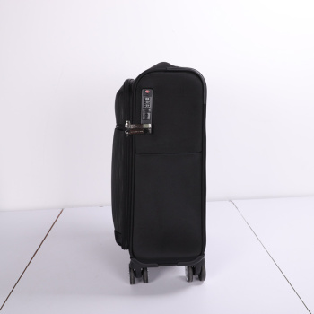 Best price soft smart carry on business luggage with 4 spinner wheels