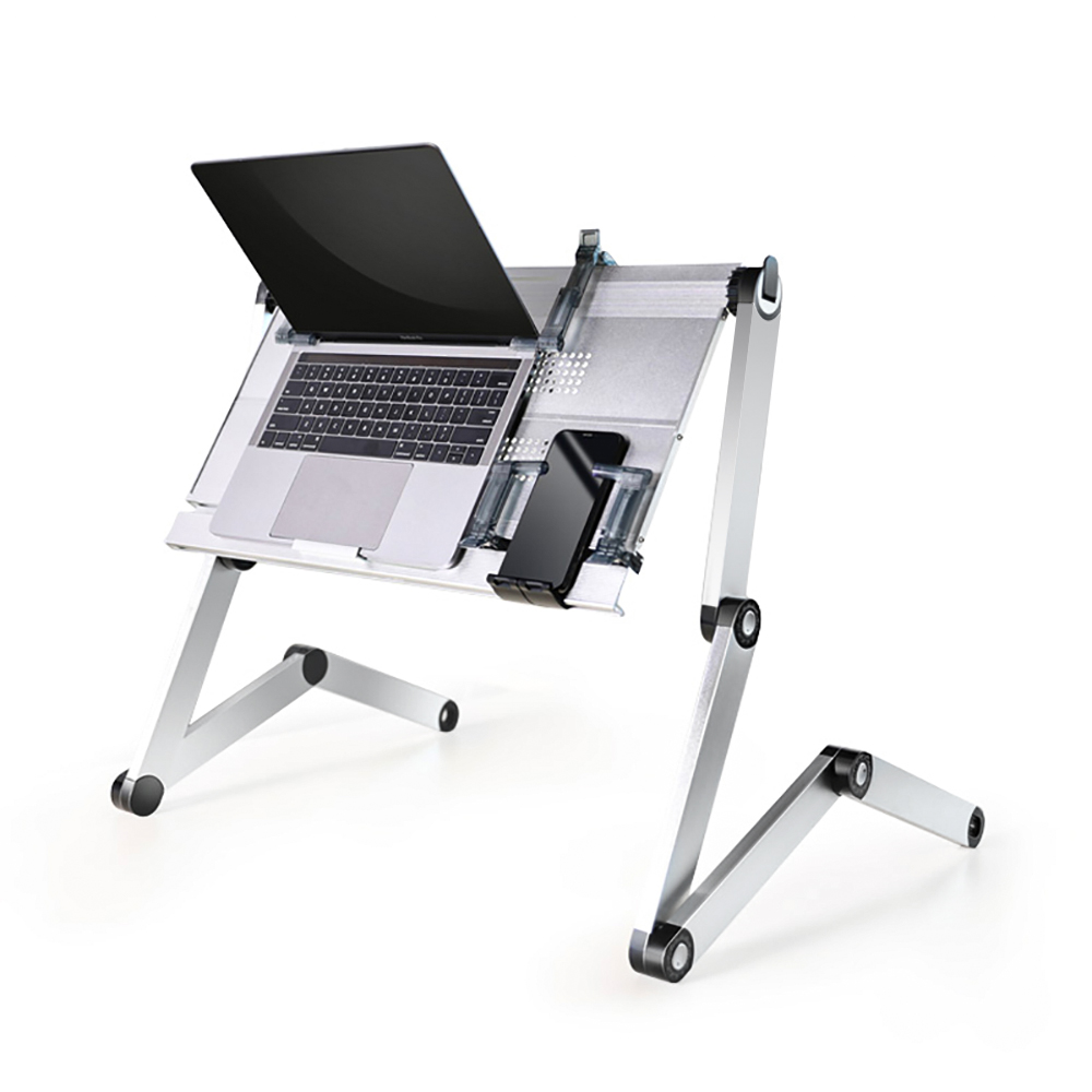 Adjustable <strong>Laptop</strong> Stand, Portable <strong>Laptop</strong> <strong>Table</strong> Stand with 2 CPU Cooling Fans, Ergonomic Lap Desk TV Bed Tray Standing