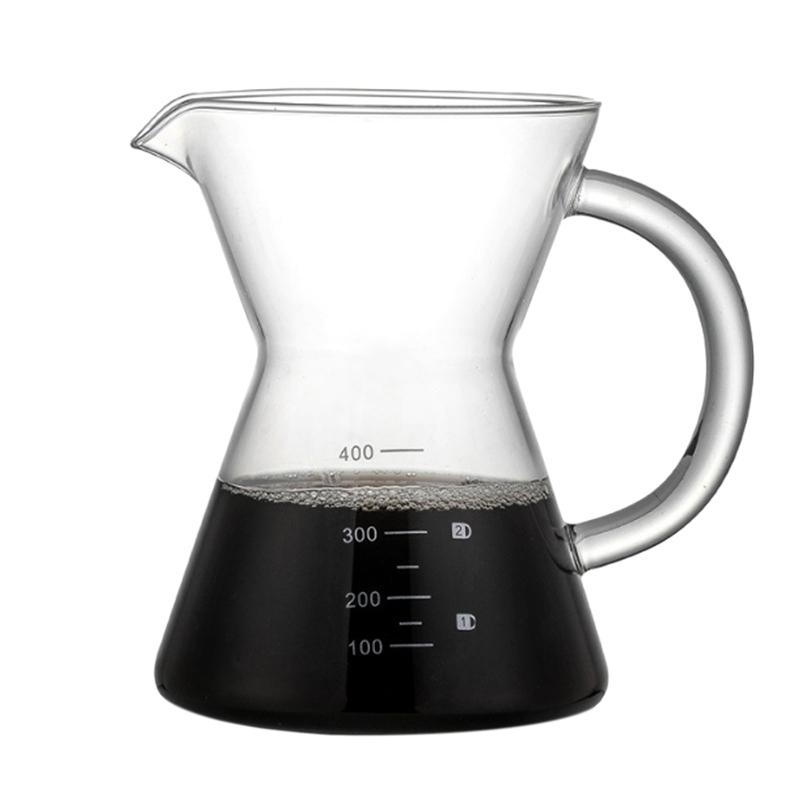 Лидер продаж 400 мл залить Кофе Воронка-дриппер для ручного Кофе чайник безбумажный Нержавеющаясталь фильтр Стекло графин горшок кофейный ...(Китай)