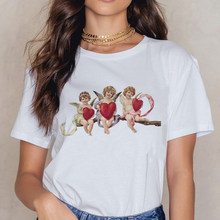 Angel/милая мягкая эстетичная одежда с аниме для девочек; Летняя одежда для женщин; Хиппи; Белый топ; Летняя уличная одежда; Женская летняя одеж...(China)