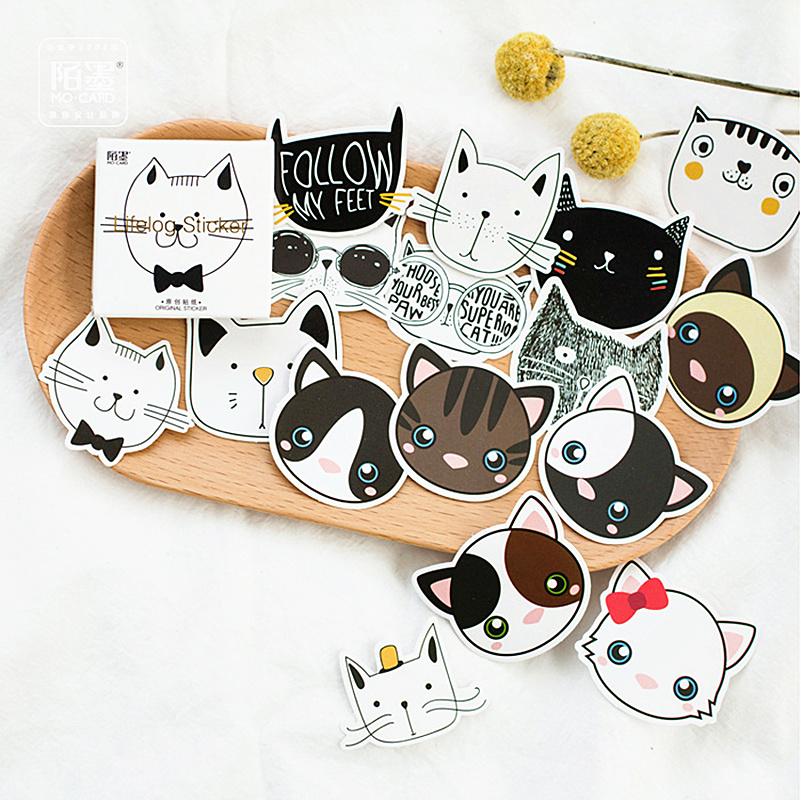 Новинка 2020, изящный блокнот для заметок в виде кошачьей головы, креативные Стикеры для заметок, планировщик, канцелярские принадлежности, ш...(Китай)