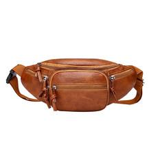Винтажная однотонная поясная сумка для женщин и мужчин, для влюбленных, из искусственной кожи, на молнии, поясная сумка для телефона, Повсед...(Китай)
