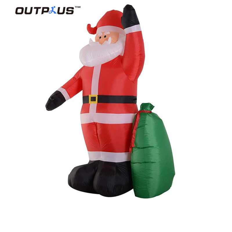 HOT sale Giant Inflatable Christmas Ornaments Snowman with Reindeer model for Outdoor Advertising