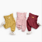 Hot Sale Boutique Newborn Baby Clothes Romper Fashionable Cotton Linen Baby Rompers Clothes Summer Baby Rompers Kids