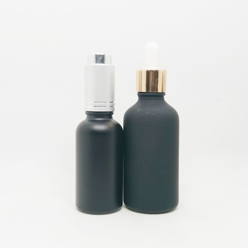 dropper lid 50ml <strong>black</strong> <strong>olive</strong> <strong>oil</strong> round empty glass bottle for cosmetic