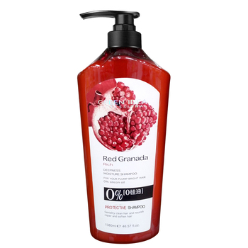 China Private Label New Hair Care Custom Rich Bio Pomegranate Shampoo Volumizing Natural Fruit Shampoo For Hair Loss