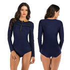 swimsuit beach swim wear womens Long Sleeve patchwork sexy one piece swimsuit