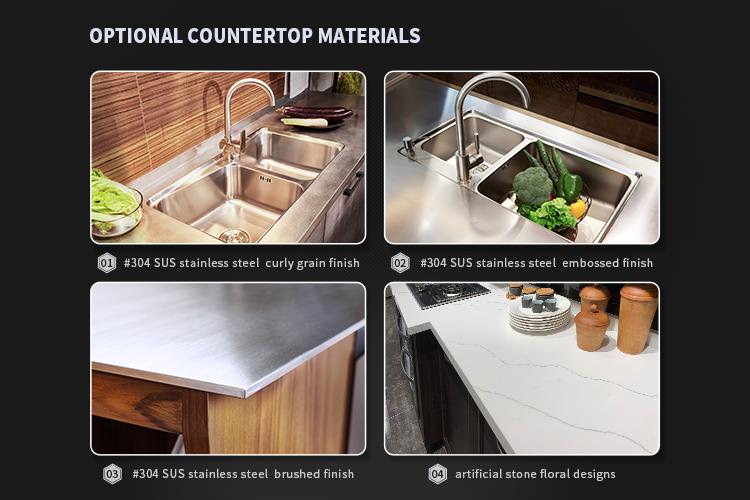 Dapur Modern Furniture Stainless Steel Kabinet Dapur Desain
