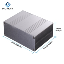 168*54-200mm frequentie inverter divisie luidspreker behuizing fashion professionele aluminium case
