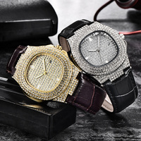 2019 trendy Bling Micro pave Cubic Zircon Iced Out Watches For Mens Jewelry