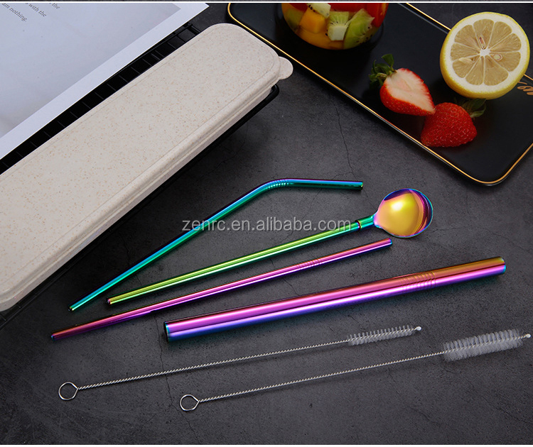 Magic Spoon Stainless Steel Cutlery cleaner Drinking Reusable straw Stainless Steel set