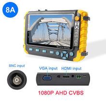 AHD CCTV тестер камера 5 дюймов 8 Мп портативный CCTV Мини монитор камеры тестер AHD CVBS тестер kamery HDMI VGA R485 видео тестер(Китай)