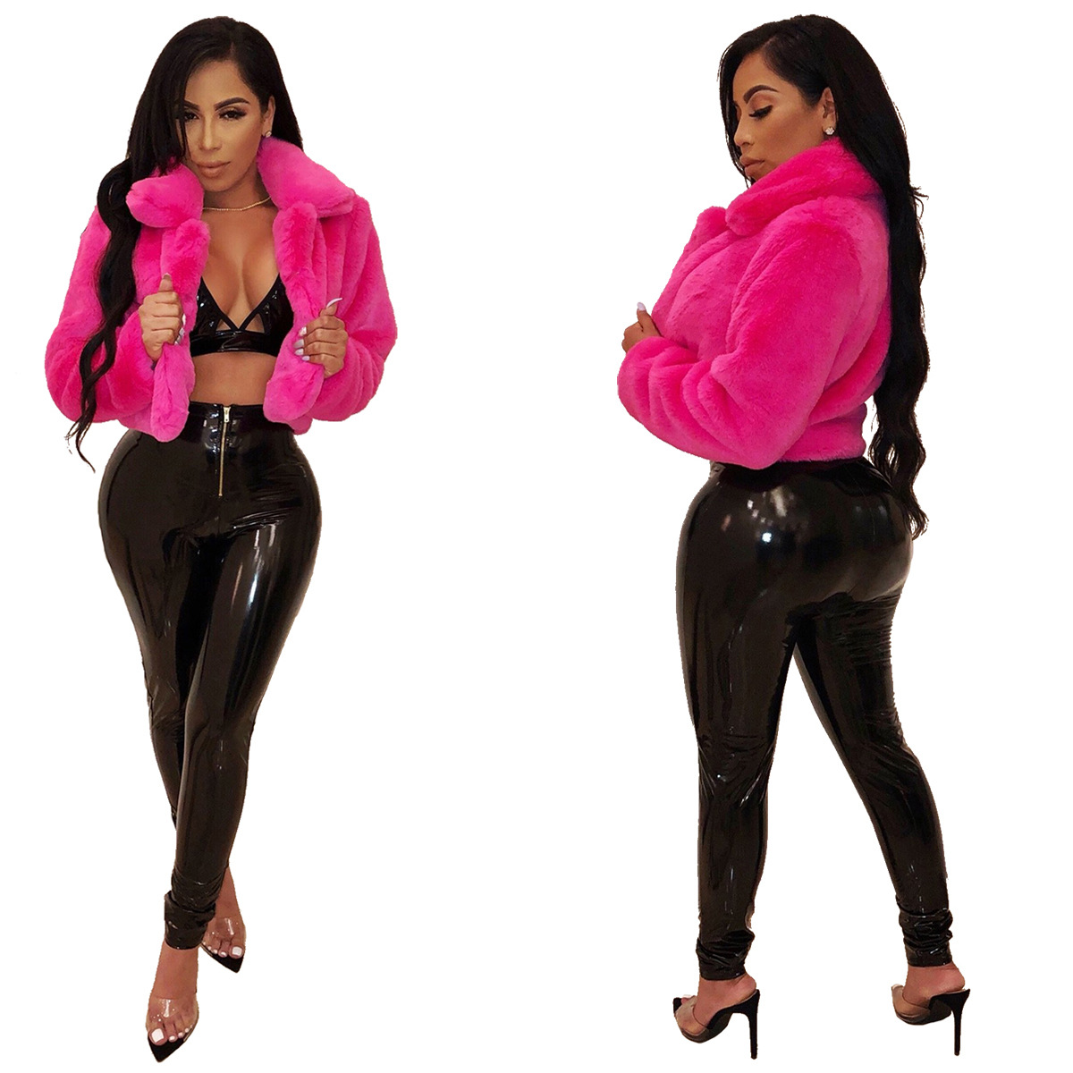 New custom designs fashionable women fashion solid jacket