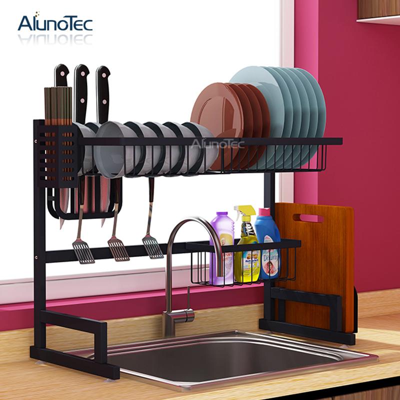 65 см черный держатель полки для сушки посуды осушитель стоячий Тип Сушилка Подставка для кухни нержавеющая сталь