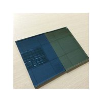 Environment-friendly stained construction glass solar control glass 4mm dark blue reflective glass