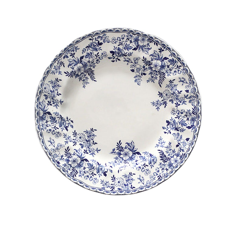 Wholesale Printed British Rose Home Retro Underglaze Ceramic Dinner <strong>Plate</strong>
