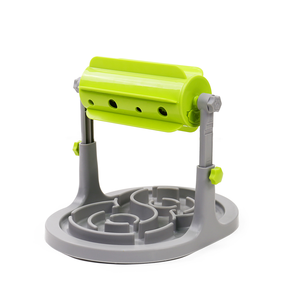 Food Dispensing Interactive Cat Toy Adjustable Height Automatic Pet Slow Feeder <strong>Dog</strong> <strong>Bowl</strong>