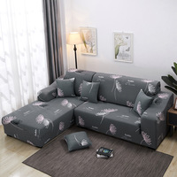 YRYIE Anti Slip Home Textile Fabric Furniture Protector Elast Corner Cover Sofa 3 Seater Sectional