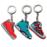Factory Custom Wholesale 2D 3D Rubber PVC Mini Air Max Jordan Basketball Shoes Sneaker Keychain