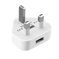 Fast Adapter USB Port 3 Pin Plug UK Charger for iphone