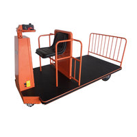 NK-120 sitting driving electric platform truck moving trolley powered electric trolley cart for material handling