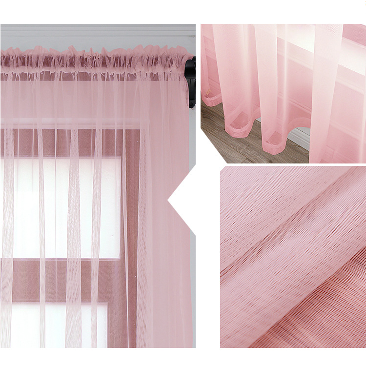 Shaoxing textile Simple sheer curtain fabric for the living room