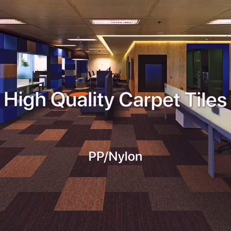Fácil de Instalar e Removível À Prova de Fogo Tapete Escritório Do Hotel Casa Uso 50x50 Praça Comercial Carpete Modular