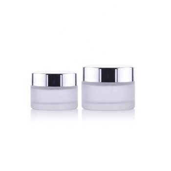 Hot sales frosted glass jar for cosmetic cream 10ml 15ml 20ml glass cream jar