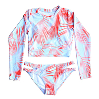 High Quality Swimsuit Long Sleeve Swimwear Women Printed Floral Bathing Suit Swimsuit Surfing Wear