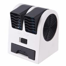 Новый мини-вентилятор с двумя портами, бесшумный охлаждающий маленький вентилятор, портативные настольные usb маленькие вентиляторы с usb-каб...(Китай)
