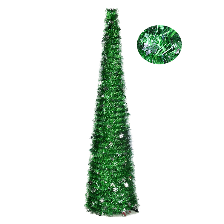 New product ideas 2020 easy assembly reusable collapsible artificial dark green pop up christmas tree