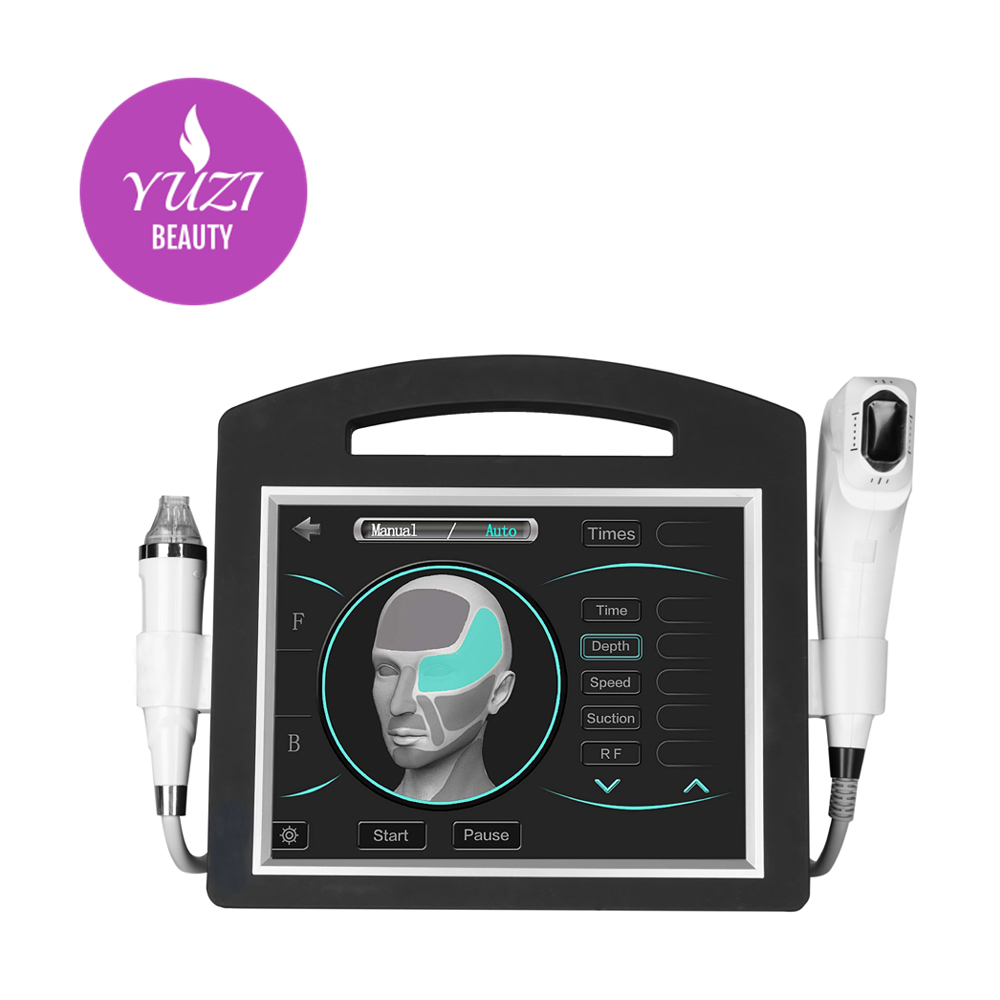 New 2 in 1 4D hifu Machine with 12 lines 20000 shots cartridge Fractional Micro Needle RF Stretch Marks Removal Machine