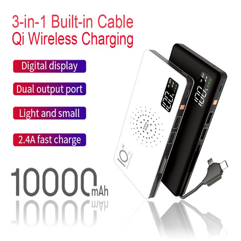 Mini batterie 10 000 mAh ultra mince externe chargeur pour téléphone portable