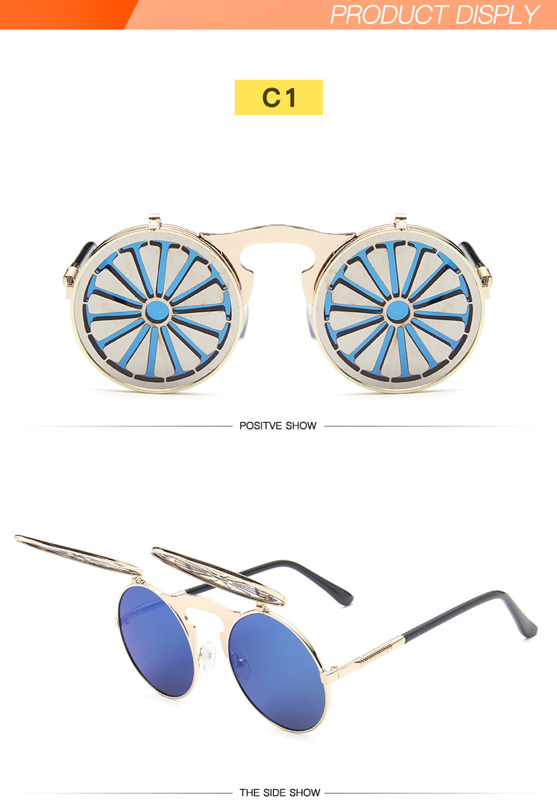 Fuqian Best large frame womens sunglasses customized for women-17