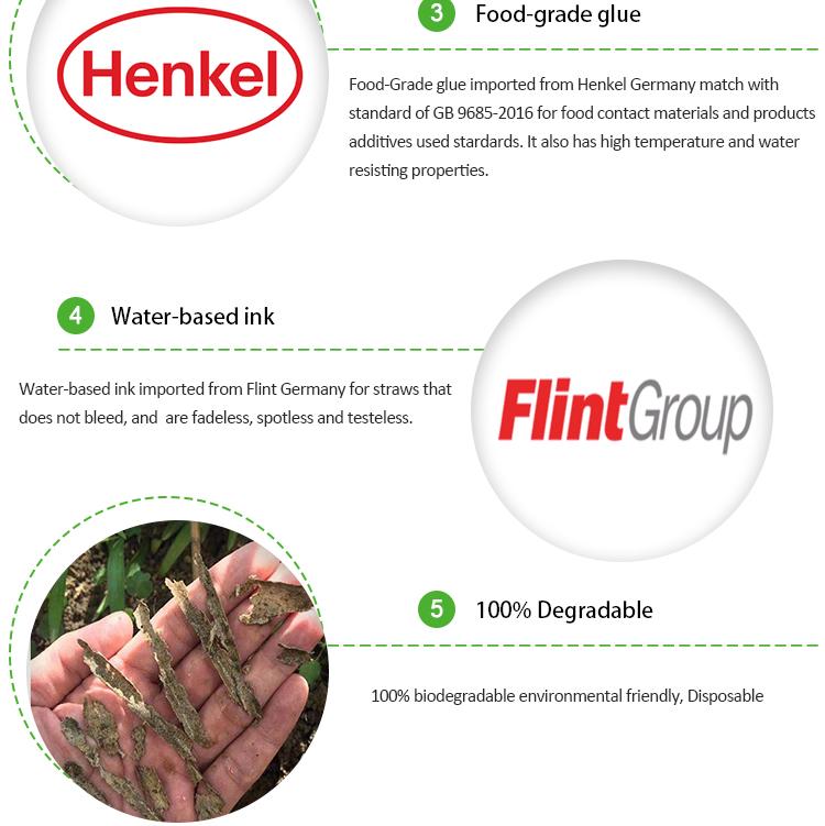 ISO22000 工厂直接供应 FDA LFGB EC FSC 认证 100 200 300 包装耐用棕色牛皮纸纸板吸管