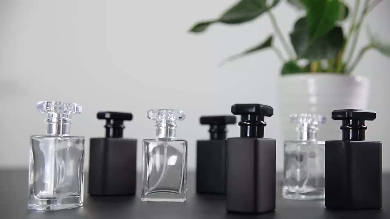 30ml 50ml 100ml glass black perfume bottle empty perfume bottles