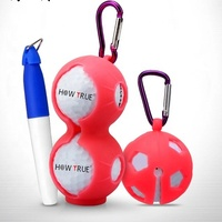 Novelty Silicone Golf Ball Holder Bags with Hook