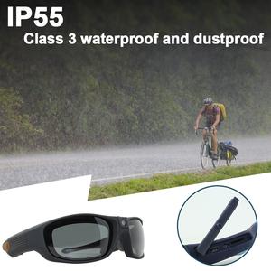 IP55 Waterproof Glasses Camera HD 1080P Dustproof Wearable DVR Cam Glasses Outdoor Sports Eyeglasses