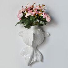 Плавающая рыба, современные креативные керамические настенные вазы, украшения для дома, Скандинавское украшение, Детская инновационная Ло...()