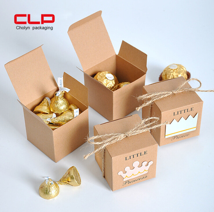 Customized candy packing box wedding gift kraft paper packaging box